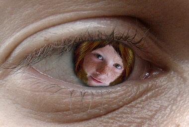 Girl in eye